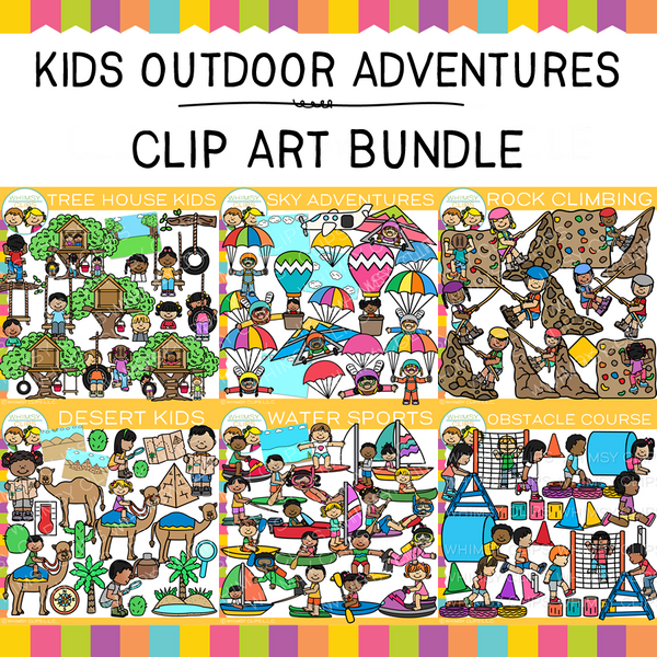 Outdoor Adventures Clip Art GROWING Bundle