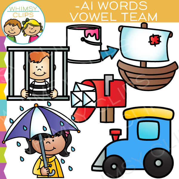 Vowel Teams Clip Art - AI Words