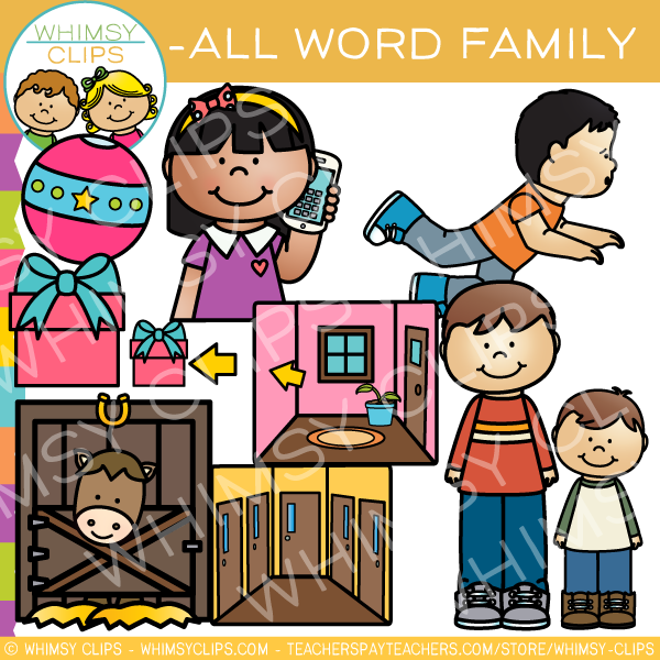 -ALL Word Family Clip Art