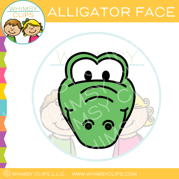 Alligator Face Clip Art