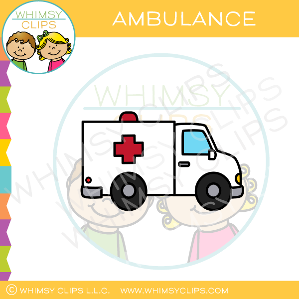 White Emergency Ambulance Clip Art