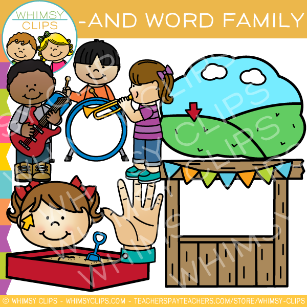 -And Word Family Clip Art