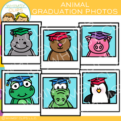 Free Animal Graduation Photo Clip Art