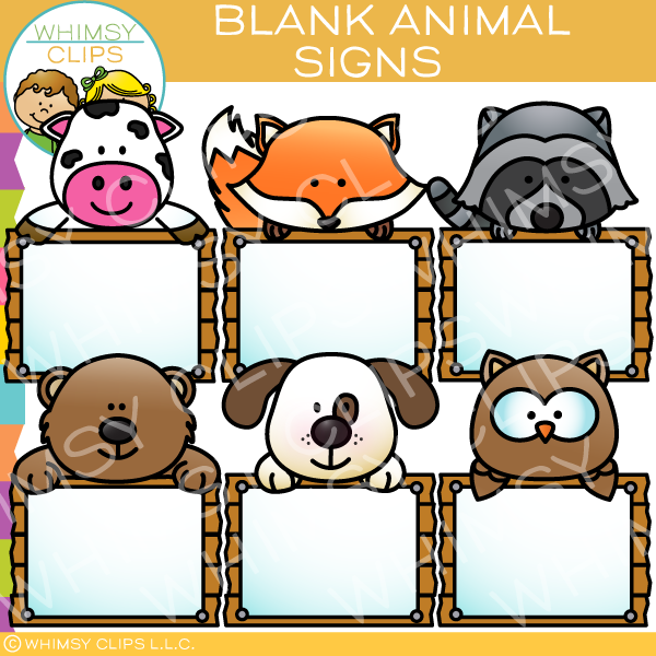 Blank Animal Signs Clip Art