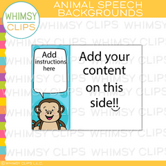 Cute Animal Speech Backgrounds