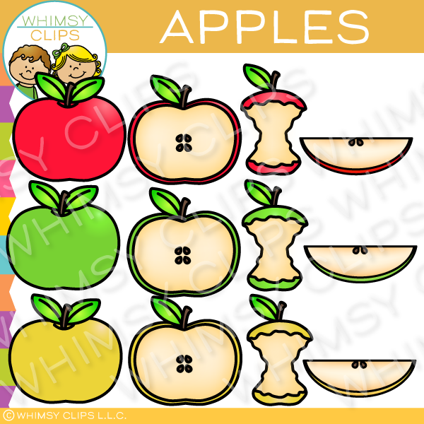 Variety of Apples Clip Art
