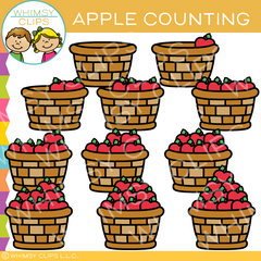 Apple Counting Clip Art