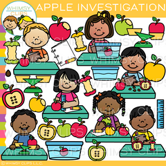 Apple Investigation Clip Art