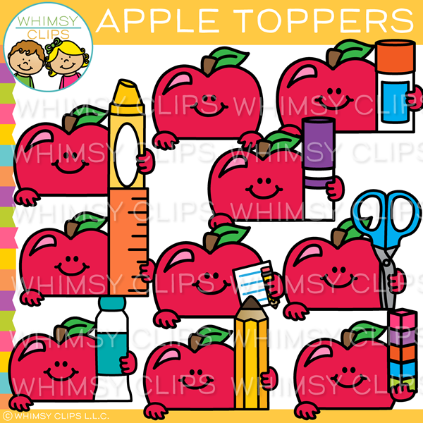 Apple Toppers Clip Art