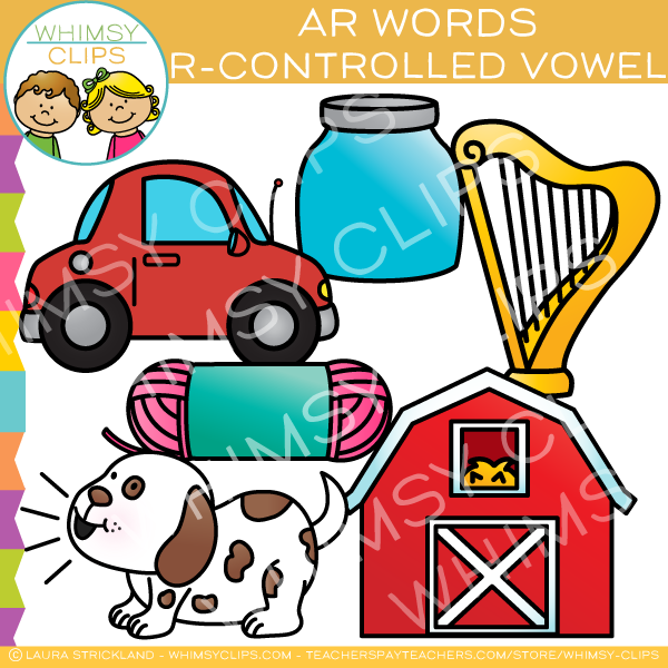 R-Controlled Clip Art - Ar Words