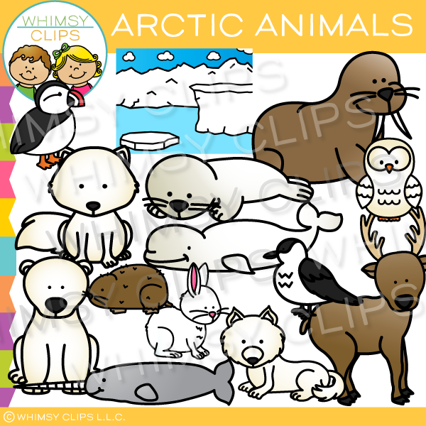 Cute Arctic Animals Clip Art