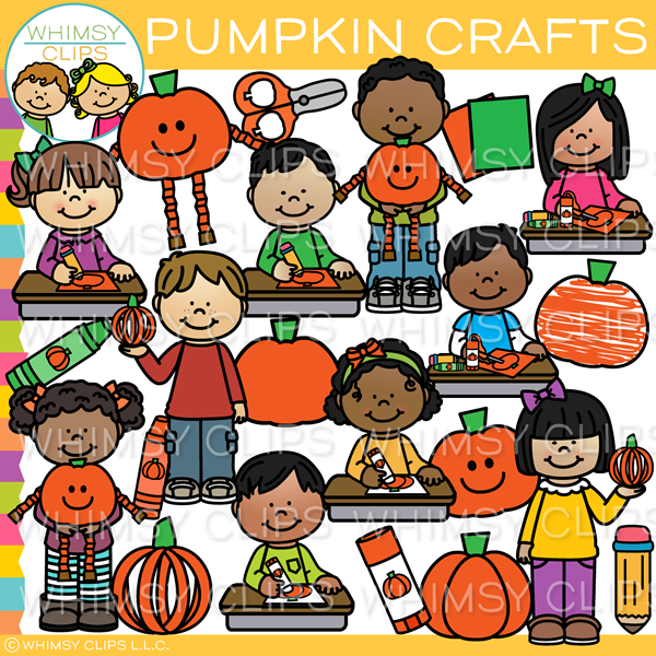 Pumpkin Arts and Crafts Clip Art