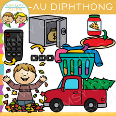 AU Words Diphthong Clip Art