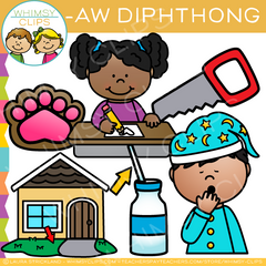 AW Words Diphthong Clip Art