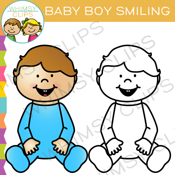 Baby Boy Smiling Clip Art