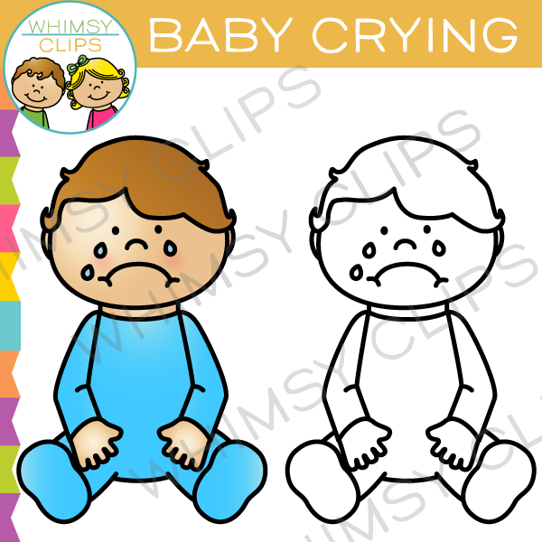 Baby Crying Clip Art
