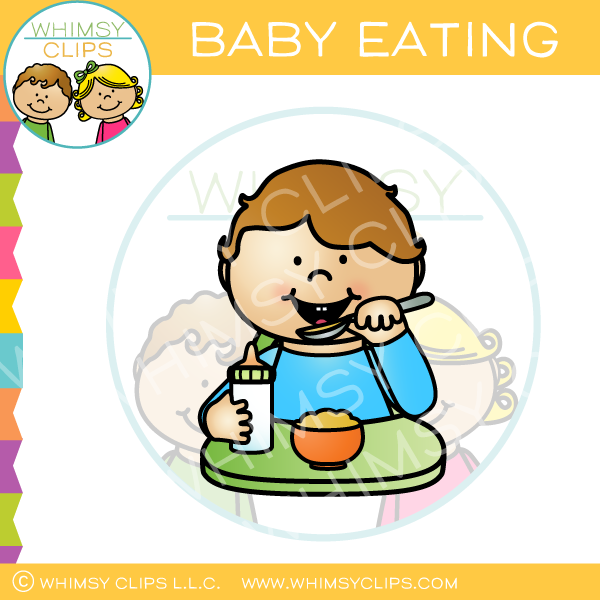 Baby Eating Clip Art