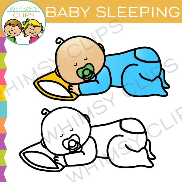Baby Sleeping Clip Art
