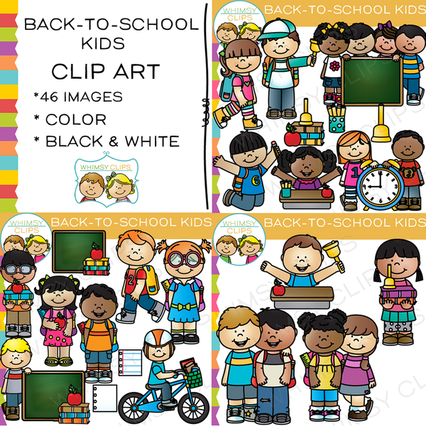 Back-to-School Kids Clip Art