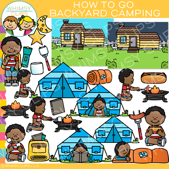 How to Go Backyard Camping Clip Art