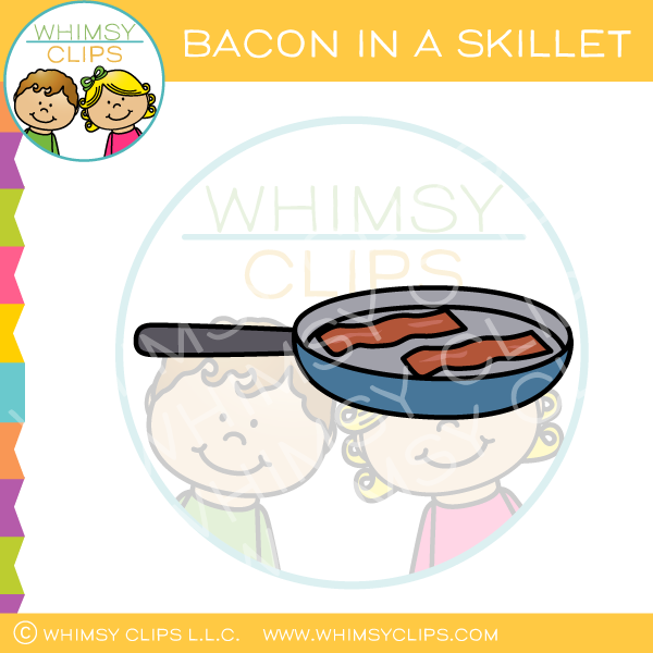 Bacon In A Skillet Clip Art