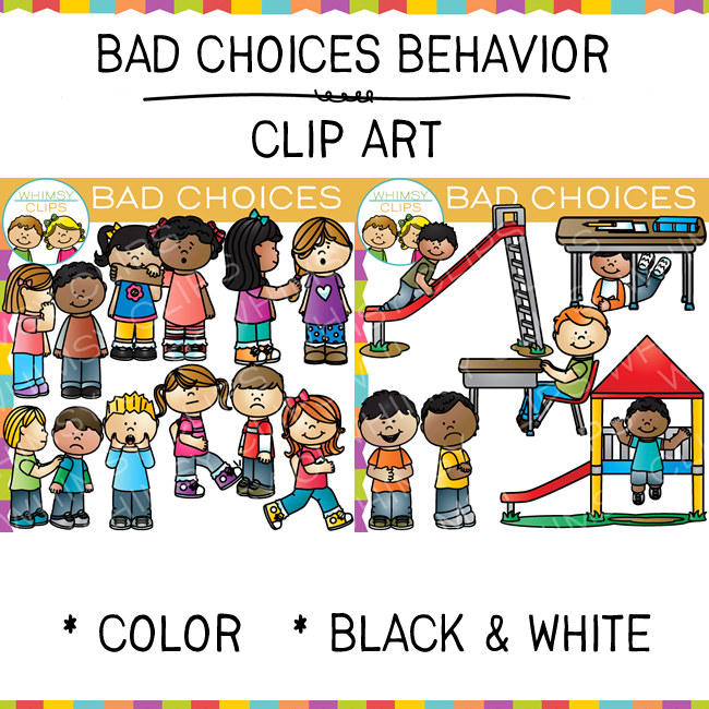 Bad Choices Clip Art Images Amp Illustrations Whimsy Clips