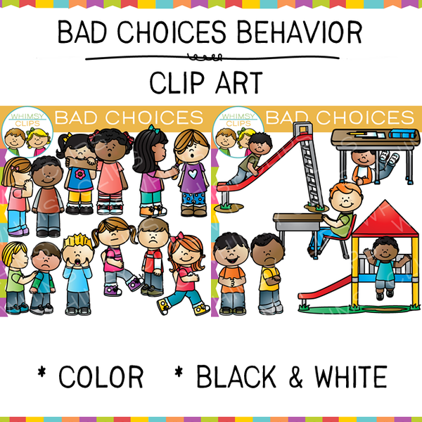 Bad Choices Clip Art