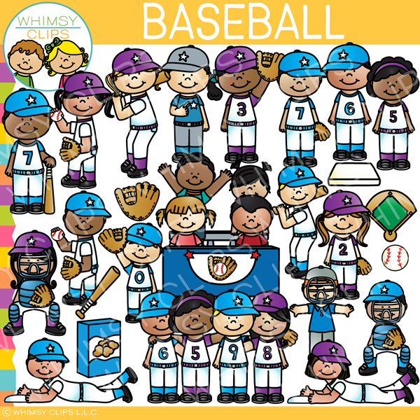 Baseball Kids Clip Art