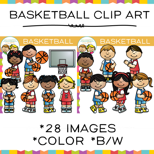 Kids Basketball Clip Art
