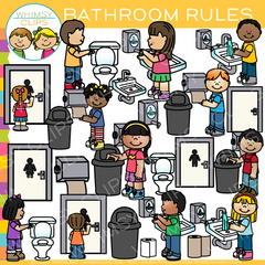 Bathroom Rules Clip Art