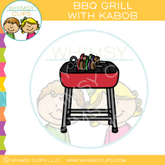 BBQ Grill With Kabob Clip Art