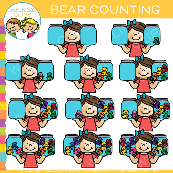 Bear Counting Clip Art