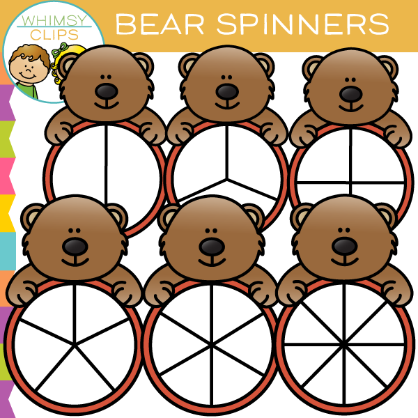 Adorable Bear Spinners Clip Art