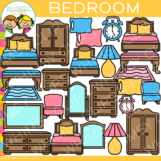 Bedroom Clip Art , Images & Illustrations