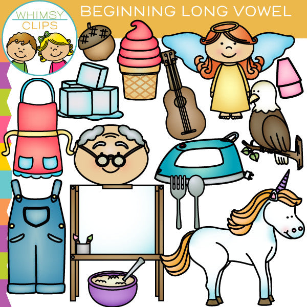 Beginning Long Vowel Sounds Clip Art
