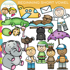 Beginning Short Vowel Sounds Clip Art