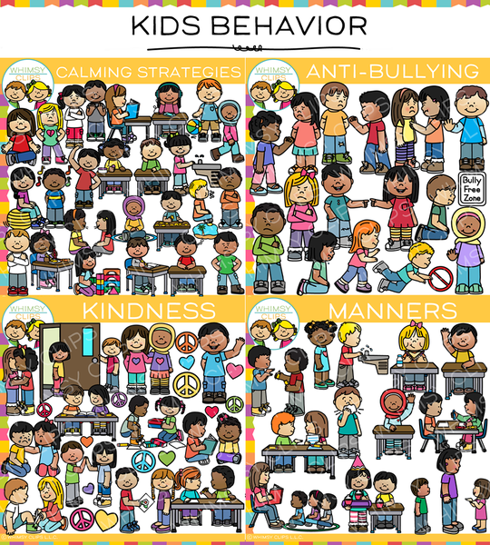 Kids Behavior Clip Art Bundle