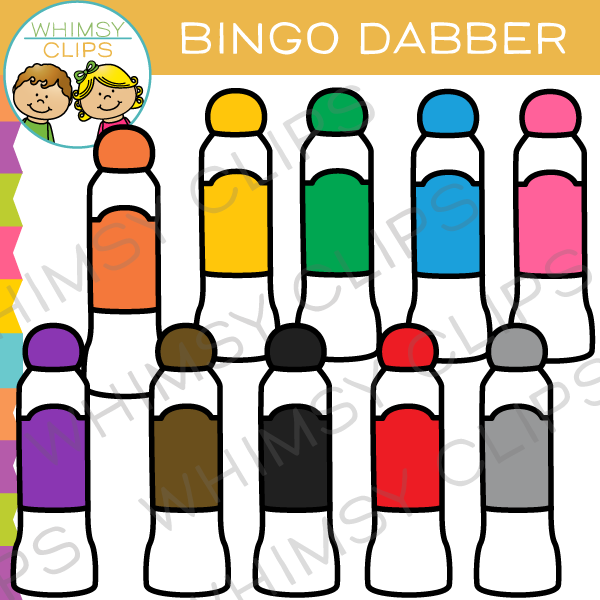 bingo dabber clip art images illustrations whimsy clips rh whimsyclips com bingo clipart background bingo clip art free