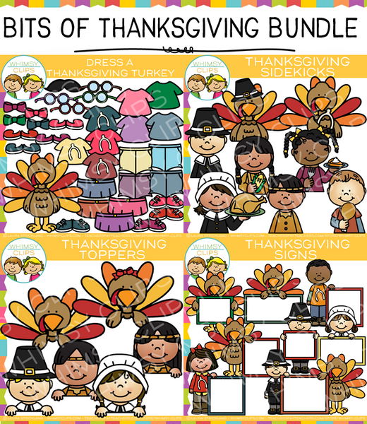 Bits of Thanksgiving Clip Art Bundle