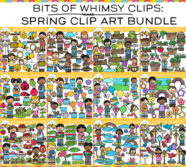 Bits of Whimsy Clips: Spring Clip Art Bundle