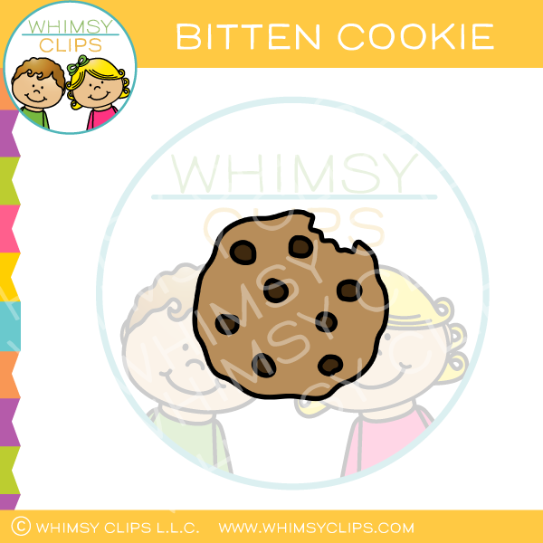 Chocolate Chip Cookie Bite Clip Art