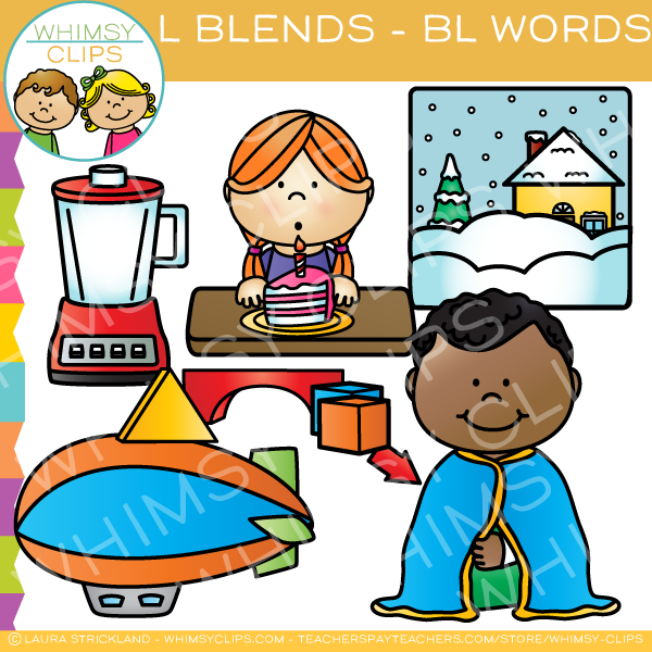L Blends Clip Art - BL Words