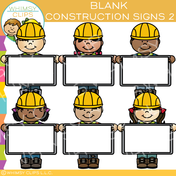 Blank Construction Signs Clip Art