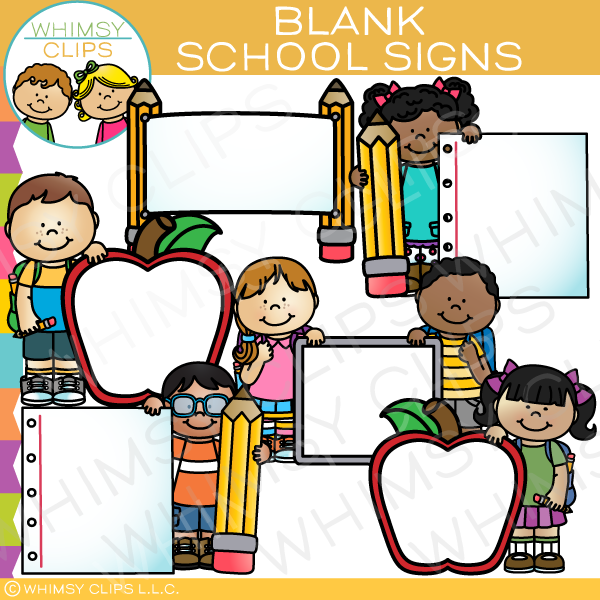 Blank School Signs Clip Art