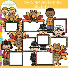 Blank Signs for Thanksgiving Clip Art