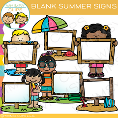 Blank Summer Signs Clip Art