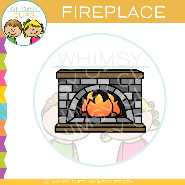 Blazing Fireplace Clip Art