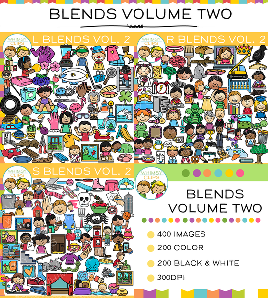 Blends Clip Art Big Bundle -  VOLUME TWO