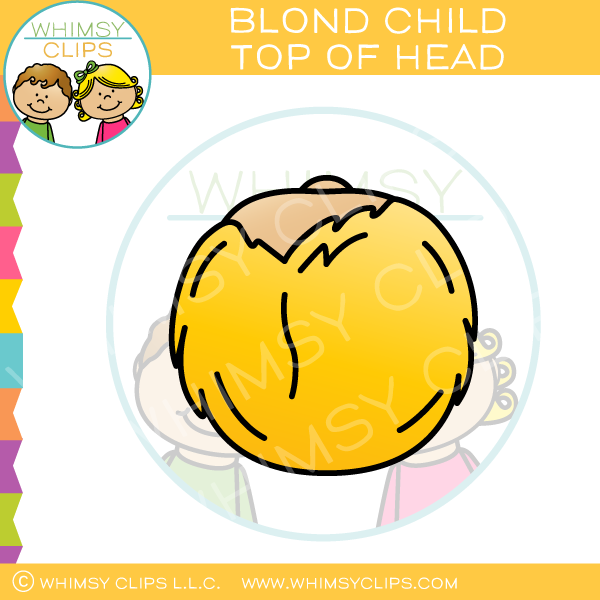 Blond Child Top of Head Clip Art