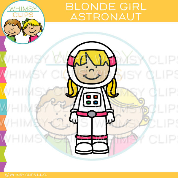 Blonde Girl Astronaut
